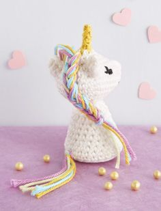 """I do not teach you anything if I tell you that unicorns have literally """". Diy Crochet Amigurumi, Crochet Diy, Crochet Gifts, Little Girl Toys, Toys For Girls, Crochet Christmas Gifts, Crochet Unicorn, Handmade Toys, Yarn Crafts"""