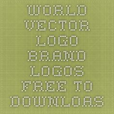 world vector logo brand logos free to downloas