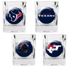 Great American Products Houston Texans Shot Glass Set 4pc Collectors Shot Glass Set