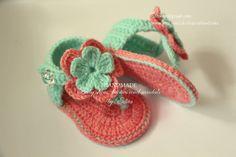 Crochet baby sandals and headband set gladiator por editaedituke