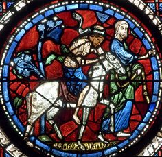 Chartres Cathedral Stained Glass - Bay 44 (Good Samaritan) Panel 10