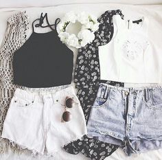 Cute summer outfits black and white outfits for teens, holiday outfits for teens, summer Teen Fashion, Fashion Outfits, Fashion Trends, Fashion Ideas, Fashion Clothes, Style Fashion, Fashion Pics, Teenager Fashion, Fashion Black