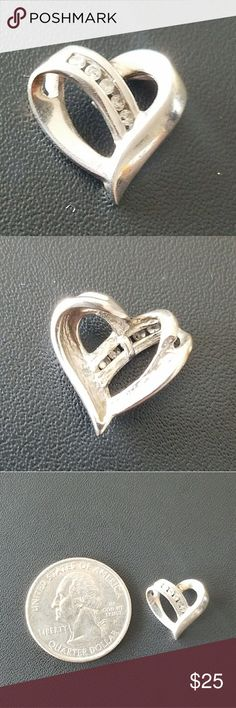 Heart Pendant 14K White Gold Jewelry Necklaces