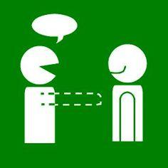 Pictogram Afstand houden gesprek groen