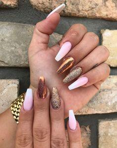 34 beautiful nail art designs for coffin nails 006 New Nail Designs, Beautiful Nail Designs, Beautiful Nail Art, Acrylic Nail Designs, Acrylic Nails, Cute Nails, Pretty Nails, Mani Pedi, Manicure