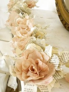 ~ beautiful paper flower garland ~