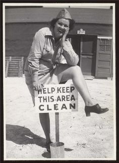 While it's true Betty thought she had a clean cooter, all the boys on the base knew otherwise.