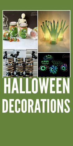Over 50 DIY Halloween decorations! Tutorials on how to make cool Halloween decor for your home, on a budget! #halloweendecor #halloweendecorations #homemadehalloween #homemadehalloweendecorations #diyhalloweendecor #craftsbyamanda