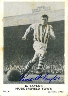 Ron Taylor of Huddersfield Town in Huddersfield Town Fc, Fa Cup, Terriers, 1960s, Soccer, Football, History, Futbol, Futbol