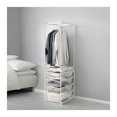 IKEA - ALGOT, Rahmen+Stange/Netzdrahtkörbe, Die Teile der ALGOT Serie lassen sich vielseitig kombinieren und können so dem Bedarf und dem vorhandenen Platz angepasst werden.Aus ALGOT Rahmen ergänzt mit Körben der gleichen Serie entsteht eine Aufbewahrungskombination, die überall im Haus passt.Steht dank höhenverstellbarer Fußkappen auch auf unebenen Böden stabil.Passt überall im Haus - sogar im Badezimmer und anderen Feuchträumen, selbst auf verglasten Balkonen.Leicht gleitend, mit…