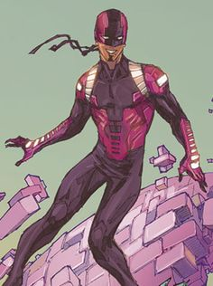 Bunker, DC Comics; Miguel Jose Barragan was born & raised in the very small Mexican village of El Chilar. He was loved by his family & village and they accepted his powers just as they did his homosexuality. & so, Miguel grew up to have a very positive outlook in life. He later left his home to find Red Robin. introduced into the Teen Titans by writer Scott Lobdell & artist Brett Booth after the Sept 2011 relaunch of the DC Universe following the events of Flashpoint.