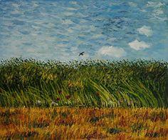 trigal-con-amapolas-y-alondra Pinturas de Van Gogh
