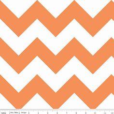 Orange Chevron Crib Skirt or Dust Ruffle by TigersTies on Etsy, $58.00