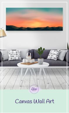 Calm landscape wall art canvas, perfect painting for living room and bedroom, beautiful gift for new home.  #homedecor#wallart#zoharlilac