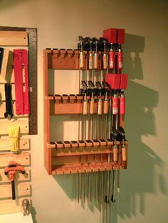 Clamp Rack for the Space Challenged - by mot @ LumberJocks.com ~ woodworking community