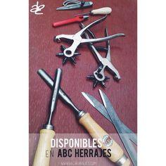Herramientas Italianas para manejo del cuero. Ahora disponibles en ABC herrajes!