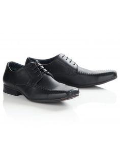 Twisted Soul Mens Black Smart Lace Up Stitched Shoes, Men Formal, Boy Fashion, Monochrome, Nice Dresses, Oxford Shoes, Dress Shoes, Lace Up, Footwear, Fancy