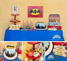 Batman Party full of ideas via Kara's Party Ideas - The place for all things party! #batmanparty #partyideas #batman #partysupplies