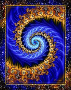 Spiralina by on DeviantArt Fractal Digital Art Fractals Abstract See my Digital Art Board for similar art and what some would term as fractal art, though it doesn't meet the criteria of being a true fractal, repeating the image on different scales. Fractal Images, Fractal Art, Fractal Geometry, Sacred Geometry, Fractal Patterns, Psychedelic Art, Rock Art, Art Pictures, Fantasy Art