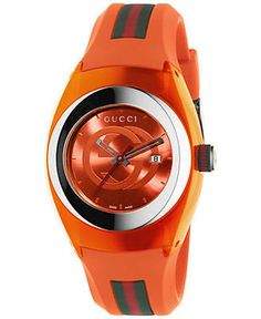 7ce10064434 Mens 64518  Gucci Sync L Ya137311 Stainless Steel Watch With Orange Band -   BUY IT NOW ONLY   331.65 on eBay! Analog SaatlerSaatler