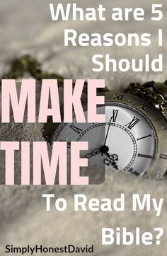 What are 5 good reasons to make time for reading the Bible? We are so busy, we have so much to do, why carve out time for Bible reading? We need strong reminders. Let's talk about this. Learn The Bible, Learn To Read, What Is 5, Reading For Beginners, Connecting With God, Get Closer To God, Hope In God, Finding Jesus, Reading Tips