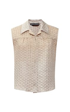 Degrade Jacquard Silk Sleeveless Top by Rochas - Moda Operandi