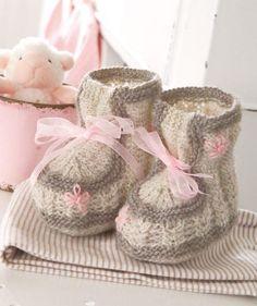 Little Lady Knit Booties