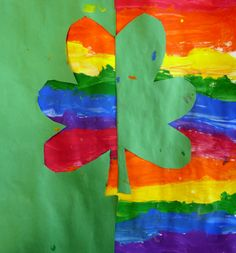 Art. Paper. Scissors. Glue!: St. Patrick's Day Projects. Positive and Negative Space