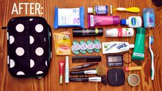 How to pack a toiletry bag