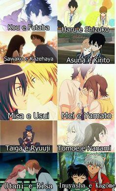 tóp những cặp đôi được yêu thích nhất trong shoujo anime