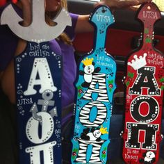 #cutiepie San Marcos, TX  The paddles my sisters & I had made from Cutie Pis in San Marcos...Alpha love!!