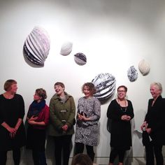 All of the lovely '...a piece of string...' artists at the opening last night. Left to right: #KirstyDarlaston, #JacquelineBradley, #JemimaParker, #LucyIrvine, #AlMunro, and #MelindaLeGuay