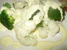 Karfiol a brokolica s holandskou omáčkou Cauliflower, Snacks, Meals, Vegetables, Food, Anna, Appetizers, Meal, Cauliflowers