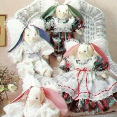 Vintage 1990 Angel Bunnies! Simplicity Crafts Sewing Pattern 7044, Designed by Faith Van Zanten, UNCUT with FACTORY FOLDS by karl79 on Etsy
