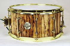 """274 Likes, 14 Comments - HHG_DRUMS (@hhg_drums) on Instagram: """"14x7 figured zebrawood stave snare drum by HHG drums. Gold hardware. @dwdrums mag throw and 3…"""""""