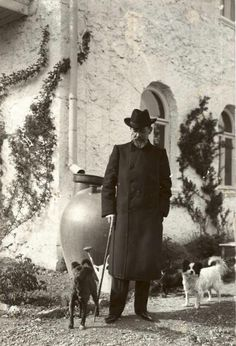 Chekhov and his dogs.