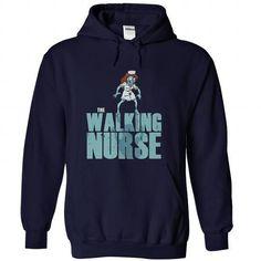 The Walking Nurse Parody T Shirts, Hoodies, Sweatshirts. GET ONE ==> https://www.sunfrog.com/Zombies/The-Walking-Nurse-Parody-NavyBlue-Hoodie.html?41382