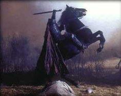 The Headless Horseman rides at midnight.