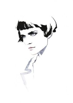 David Downton's fashion illustrations
