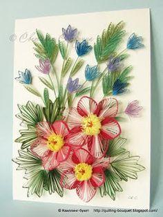 Hamster Challenge: quilled floral arrangement