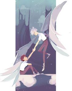 neon genesis evangelion - kaworu and shinji by LaWeyD.deviantart.com on @DeviantArt