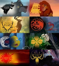 Some of these characters might actually enjoy being in Westeros (lookin' at Ursula and Mushu there). Others would adapt, I think (Mufasa and the wolf, and probably Bambi's dad). Flounder would die. Horribly.