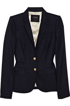 schoolboy wool-blend blazer / j. crew