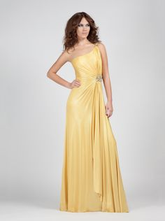 Jersey one shoulder evening dress !! http://mikael.gr/en/previous-collections/AE30071.html
