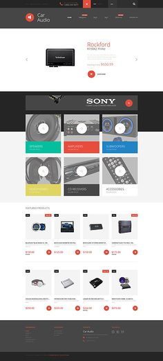 Car Audio Store #Shopify #template. #themes #business #responsive #webshop