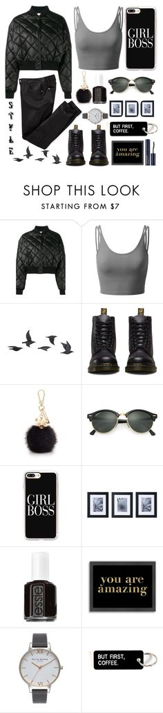 """""""Puffer Jacket"""" by achernar ❤ liked on Polyvore featuring STELLA McCARTNEY, Doublju, Jayson Home, Dr. Martens, Furla, Ray-Ban, Casetify, Mikasa, Essie and Americanflat"""