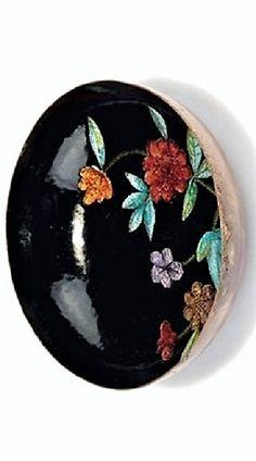 Maria Likarz (Austrian, 1893–1971) Title:     Kleine Schale , ca. 1925  Medium:     copper, enameled, enamel, silver foil Size:     2.8 x 11 x 11 cm. Glass Art, Decorative Plates, Designers, Dm, Female, Tableware, Enamel, Medium, Home Decor