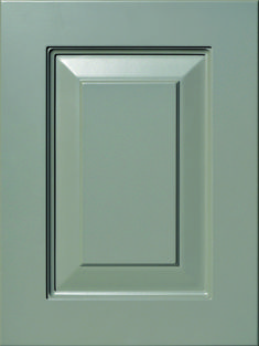 """Garland Raised Panel Door  Available Material: MDF Color Shown: Dovetail Paint Available in All Outside Profiles - Shown with 18"""" Roundover Outside Profile Raised Panel Doors, Face Framing, Custom Cabinetry, Cabinet Doors, Color Show, Garland, Profile, Traditional, Paint"""