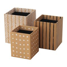 IKEA - HEJSAN, Pen cup, set of 3, Helps you keep your pens, rulers and other small things organized.