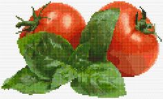 Cross Stitch | Tomatoes xstitch Chart | Design                                                                                                                                                                                 More